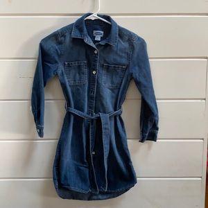 Girls denim dress size 8
